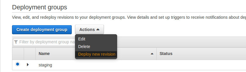 Autodeploy from github using AWS CodeDeploy