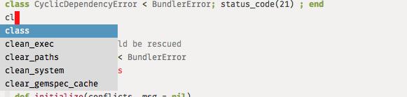 Emacs auto-complete