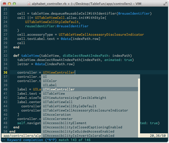 vim tabcompletion for RubyMotion