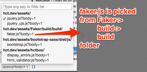 Firefox inspect script tab